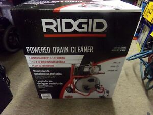 Ridgid 115 volt K 400 Drain Cleaning Drum Machine With C 32 3 8 In Brand New