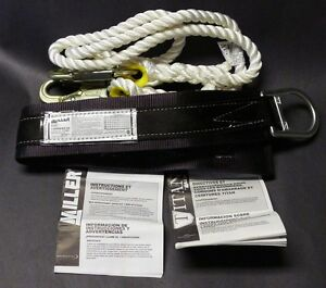 Miller 2na mbk Body Belt M 2 Anchor Points Titan T9111r 6ftwh Rope Landyard