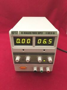 Mpja Dc Regulated Power Supply 0 50v 0 3a