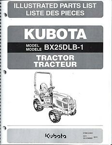 Kubota Bx25dlb 1 Tractor Illustrated Parts Manual 97898 42920