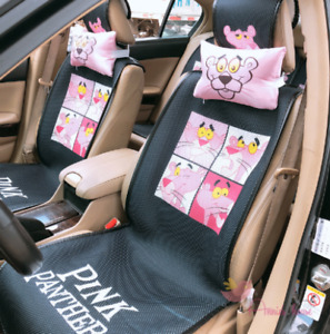 Pretty Cute Naughty Pink Panther Front Back Seat Cover Full Set