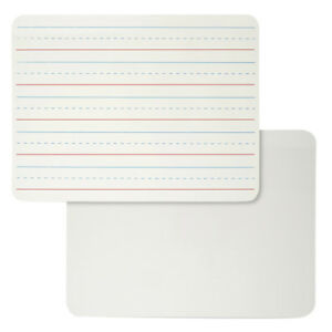 Cli Plain Lined Dry Erase board Magnetic 2 Sided 4 Ea 35135