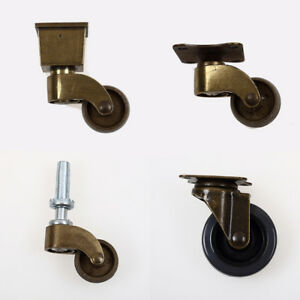 4pcs Antique Universal Furniture Casters Table Chair Trolley Nylon Wheel Rollers