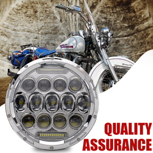 7 Motorcycle Led Projector Daymaker Headlight For Harley Heritage Softail