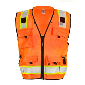 Ml Kishigo Class 2 Reflective Surveyor Safety Vest With Pockets Orange