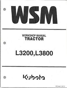 Kubota L3200 L3800 Workshop Service Repair Manual 9y111 05201