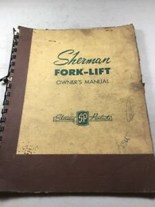 Sherman 71a10 rr Fork lift attachment For Ford Tractor Owners Manual c 1955