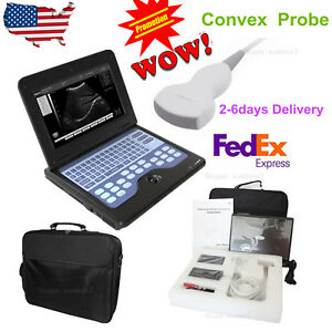 Laptop Machine Portable Digital Ultrasound Scanner 3 5 Convex Probe usa Seller