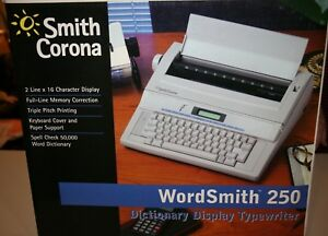 Smith Corona Wordsmith 250 Typewriter Tested And Works Excellent Condition