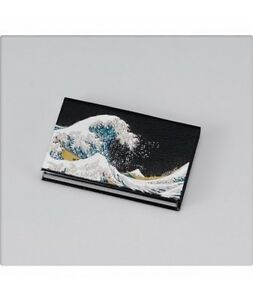 Japanese Business Name Card Holder Big Wave Billow Card Case Gift From Japan New