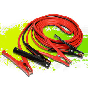 25ft 4 Gauge Booster Jumper Cable Emergency Car Battery Start Heavy Duty 500amp
