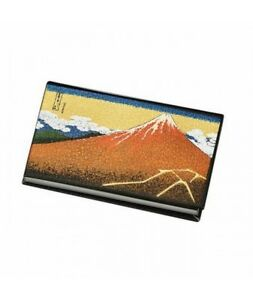 Japanese Business Name Card Holder Black Mt Fuji Card Case Gift From Japan New