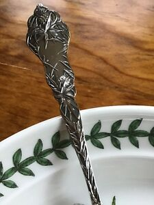 Rare Paye Baker P B Sterling Silver Thistle Floral Tea Spoon Blowing In The Wind