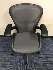 Herman Miller Aeron Chair Size B medium Graphite Already Assembly