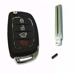 Keyless Entry Remote Control Folding Key Oem Parts For 2012 Sonata