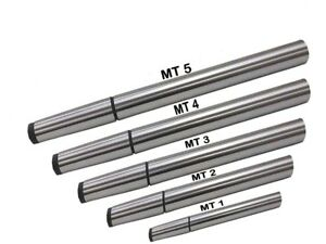 Lathe Alignment Test Bars Mt1 Mt2 Mt3 Mt4 Mt5 Alloy Steel 5 Piece Combo Set