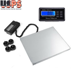Portable 660lbs Digital Platform Scale Floor Lcd Postal Shipping Weight 300kg