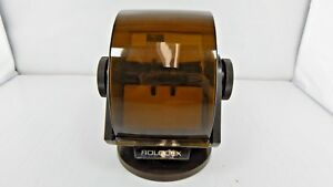 Vintage Rolodex Sw 24c Plastic Large Round File Index Cards Swivel Rotary Office