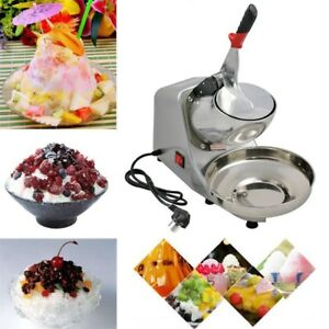 Durable 143lbs Electric Ice Crusher Shaver Machine Snow Cone Maker Shaved Ice