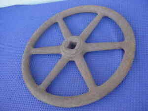 Industrial Handwheel 18 Diameter Cast Iron With 1 1 4 Square Hole Steampunk