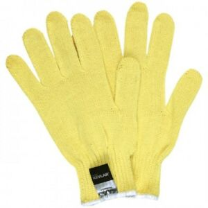 Mcr Safety String Knit Gloves 7 Gauge Kevlar Yellow Medium 2 Dozens