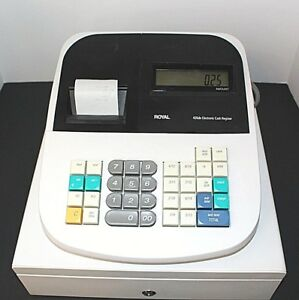 Royal 435dx Electronic Cash Register With Manual Missing Key