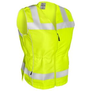 Ml Kishigo Class 2 Reflective Ladies Safety Vest With Pockets Yellow lime