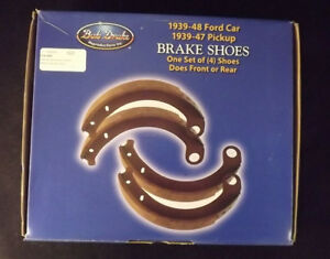 1939 42 Ford Car 1939 41 Ford Pick Up Truck New Set Of 4 Bonded Brake Shoes