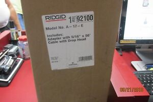 Ridgid 92100 5 16 inch X 50 feet A 17 e Cable Adapter