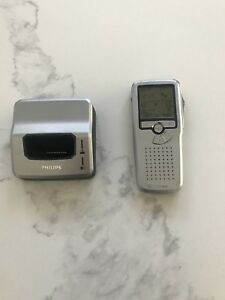 Philips Lfh 9500 Digital Pocket Memo Dictaphone With Charging Dock
