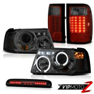 Led Tinted Headlight Red Smoke Tail Light Third Brake 2001 2011 Ford Ranger 3 0l