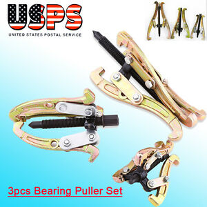 3 Pcs 3 Jaw Gear Pulley Bearing Puller Set 3 4 6 Reversible Small Legs