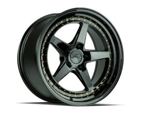 19x9 5 Aodhan Ds05 5x114 3 22 Black Wheels set Of 4