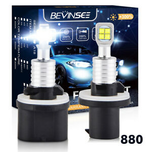 For Ford Focus 2000 2001 880 899 80w Cree Led Fog Light 6500k White Bulbs 1500lm