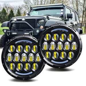 Fit 1966 1977 Early Ford Bronco Led Headlight Drl Light H4 H13 Replace Halogen T