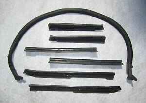1968 1972 Gm A Body Convertible Roof Rail Weatherstrip Set Free Shipping