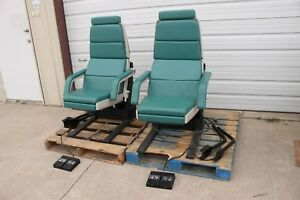 2 Midmark 413 Power Exam Table Procedure Chair Pair Medical Examination Chairs