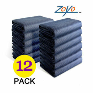12pcs Moving Blankets Pads Heavy Duty 80 X 72 Quilted Furniture Transfer