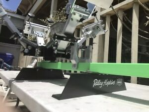Ryonet Riley Hopkins Jr 4 Color 1 Station Screen Printing Press