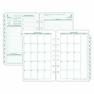 Franklin Covey Original Dated Daily Planner Refill January december 5 1 2 X 8 1