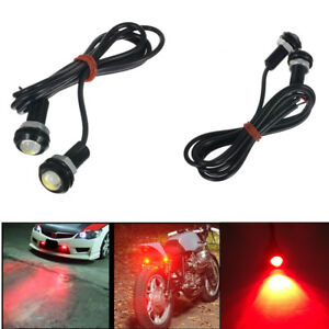 2 Pcs Car Motorcycle Eagle Eye Red Lamp Led 9w External Fog Light Driving Lights
