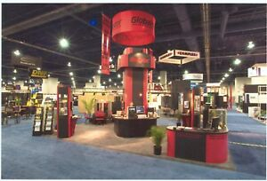 20 X 20 Nimlok Custom Trade Show Exhibit Booth Display Crates And Lights