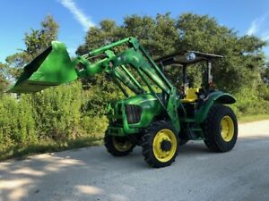 2006 John Deere 5325 4wd Tractor 542 Loader Bucket Low Hours