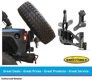 Smittybilt Gen2 Xrc Tire Carrier With Slant Back Tire Mount For Jeep Jk Wrangler