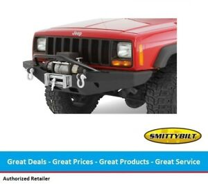 Smittybilt Xrc Rock Crawler Winch Front Bumper W Bull Bar For Jeep Cherokee