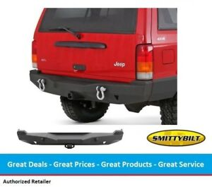 Smittybilt Xj Xrc Rear Bumper With Hitch For Jeep Cherokee Xj