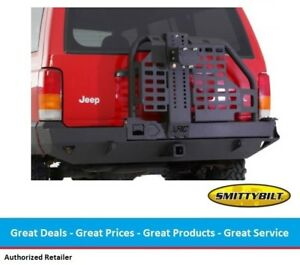 Smittybilt Xrc Rear Bumper With Hitch Tire Carrier For Jeep Cherokee Xj