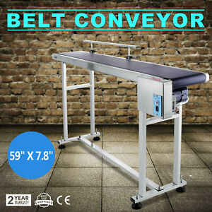 Power Slider Bed Pvc Belt Conveyor Stainless Steel Conveying Anti static New