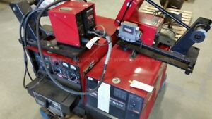 Lincoln Dc 400 Welder Power Wave 455m Ln 7 Wire Feed Power Feed 10m