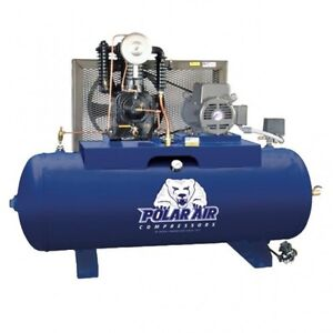 5 Hp 2 Stage 80 Gallon Horizontal Air Compressor